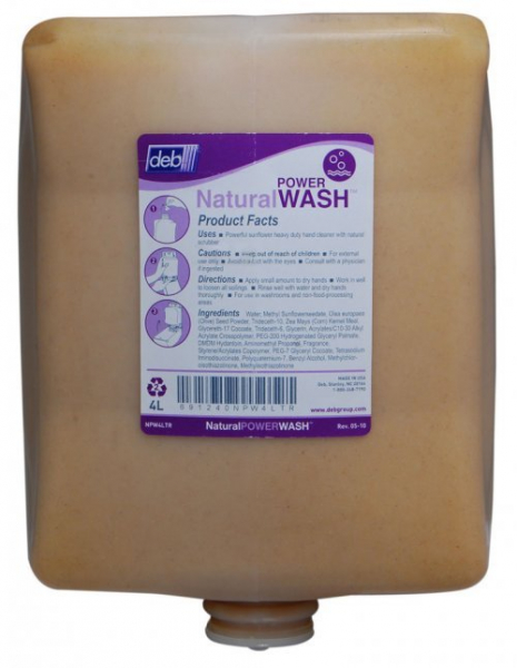 Deb SC Johnson DEB 4000 SOLOPOL NATURAL POWER WASH Cartridge * 4 x 4L