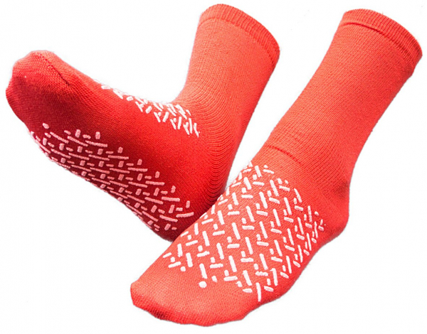 SMA International SOCK ULTRAGRIP NON SLIP  CTN 48; RED; One Size