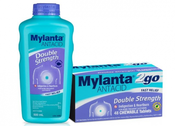 Johnson & Johnson MYLANTA 2 GO DOUBLE STRENGTH CHEW TABS 24