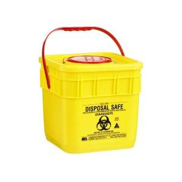 IDC SHARPS CONTAINER IDC YELLOW SQUARE 10L SFL