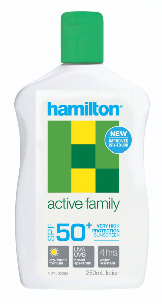 HAMILSUN SUNSCREEN ACTIVE FAMILY SPF50+ LOTION 250mL H7224