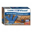 AEROPLAST BLUE VISUAL STRIPS X-WIDE 75mm x 25mm  100 AV2000