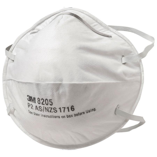 3M Aust MASK INDUSTRIAL: 3M P2 DUST/MIST/FUME Box/20 - Firm Orders only - Lead time 63 days