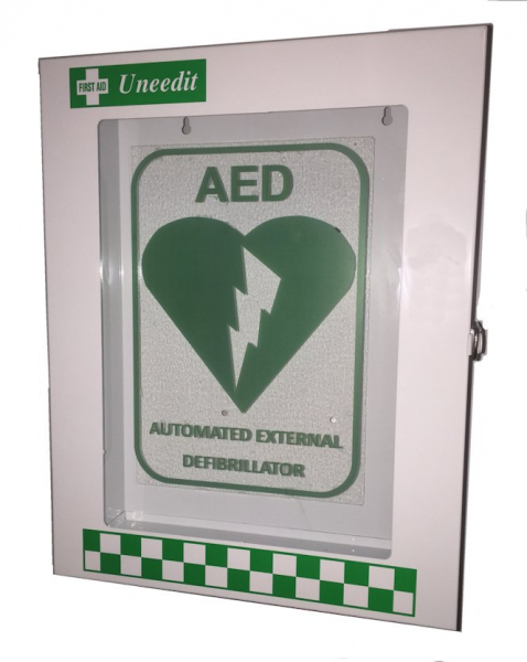 Uneedit F.A.KIT: CASE METAL WINDOW FRONT - LABELLED DEFIBRILLATOR