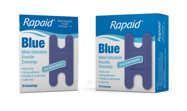 Mundipharma RAPAID BLUE METAL DETECTABLE KNUCKLE STRIP 10