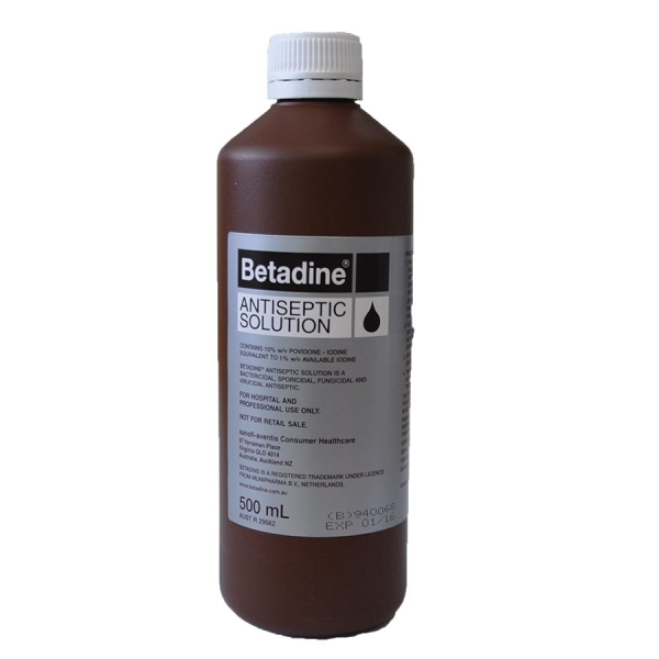 Sanofi Aventis BETADINE ANTISEPTIC LIQUID 500mL  (Brown)