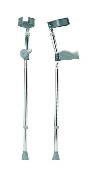 CRUTCH ALUMINIUM ELBOW/FOREARM ADJUSTABLE LARGE ADULT 890mm - 1370mm 080376