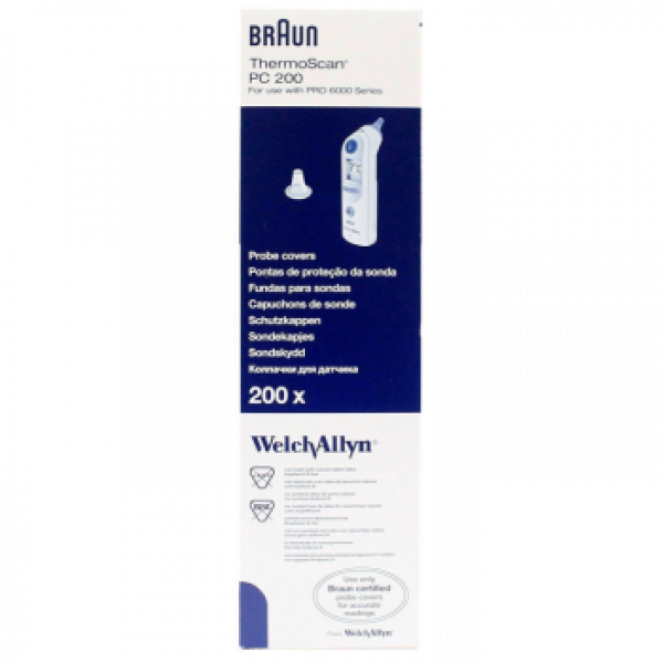 Welch Allyn THERMOMETER: BRAUN/WELCH ALLYN THERMOSCAN PROBE COVERS PRO 6000  200