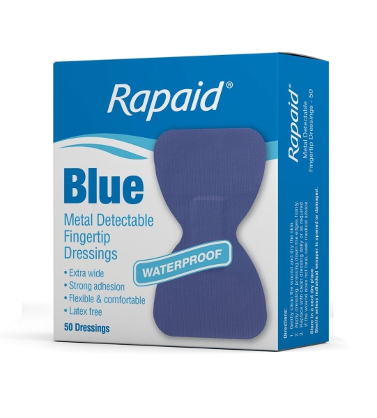 RAPAID BLUE METAL DETECTABLE FINGERTIP STRIP 50 M7007797