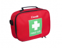F.A.KIT: CASE SOFT NYLON ZIP RED (Green/White Cross) LARGE MP7