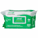 CLINELL UNIVERSAL SANITISING WIPES Soft Pack 200 CLDCW200