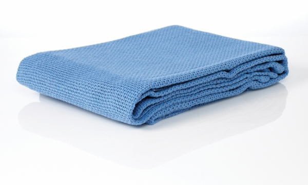 Aaxis Pacific BLANKET COTTON 100% CELLULAR 180 x 230cm BLUE SINGLE BED