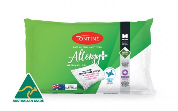 Tontine PILLOW COTTON COVERED FOAM FILL TONTINE ALLERGY PLUS & ANTI STAIN FIRM *IND. WRAPPED*
