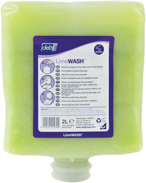 SC Johnson Deb DEB 4000 SOLOPOL LIME WASH Cartridge 4L  *Ctn/4