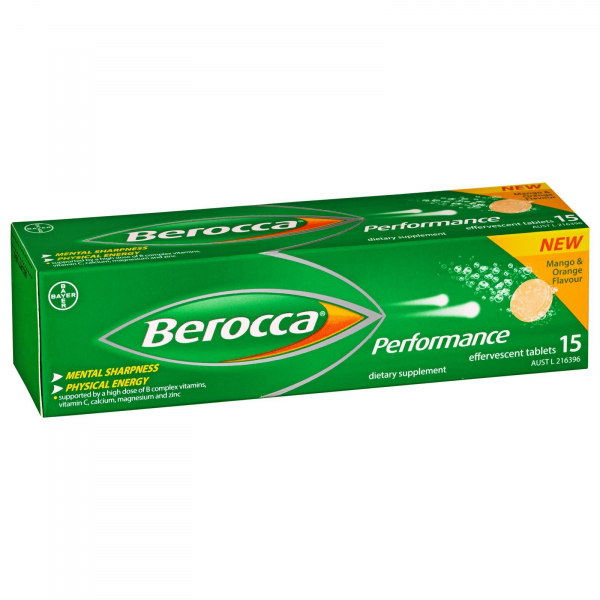 Bayer BEROCCA EFFERVESCENT PERFORMANCE ORIGINAL TABS 15