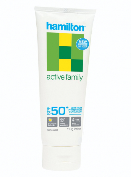Key Pharmaceuticals HAMILSUN SUNSCREEN ACTIVE FAMILY SPF50+ LOTION 110g