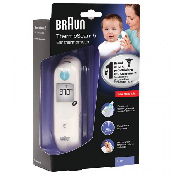Braun Health THERMOMETER: BRAUN THERMOSCAN 5   IRT 6030