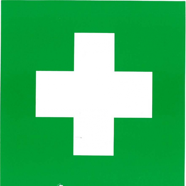 Uneedit LABEL: FIRST AID KIT 150mm x 150mm - Adhesive LARGE