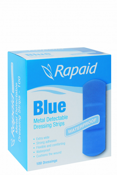 Mundipharma RAPAID BLUE METAL DETECTABLE X -WIDE STRIP 100