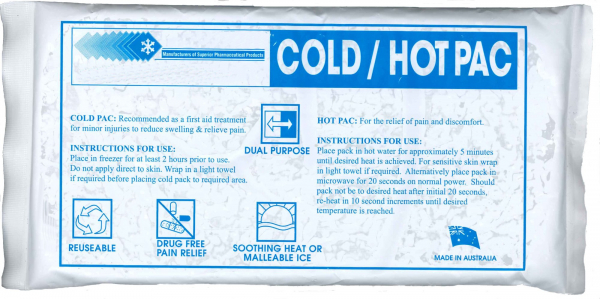 Sealed Air Aust ICE PACK RE-USABLE HOT/COLD 240mm x 90mm CLEAR BLUE GEL PACK