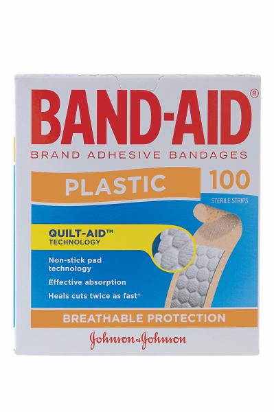 Johnson & Johnson JJ BAND-AID PLASTIC STRIPS 100