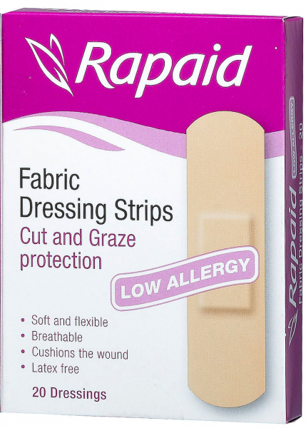 Mundipharma RAPAID FABRIC LATEX FREE STRIPS  20