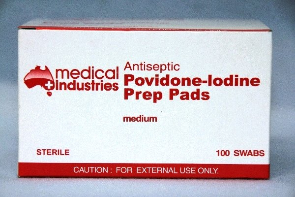 Medical Industries POVIDONE IODINE SWABS  Brown   Pkt 10