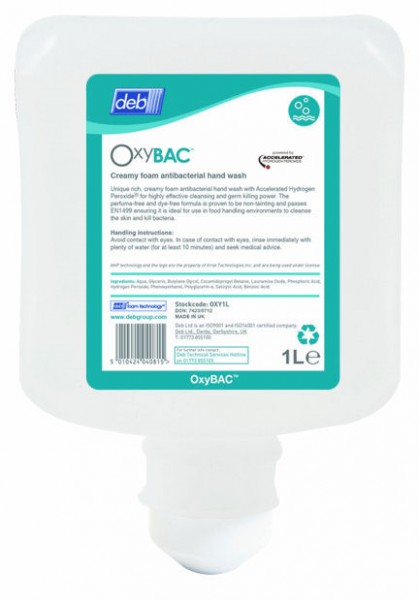 SC Johnson Deb DEB STOKO OxyBAC FOAM Cartridge  1L  *Ctn/6