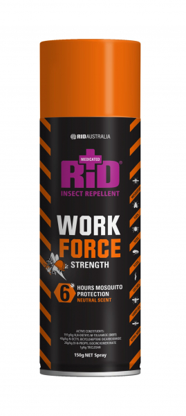 Rid Aust RID WORKFORCE INSECT REPELLENT SPRAY 150gm  *DG  UN1950 CLASS 2
