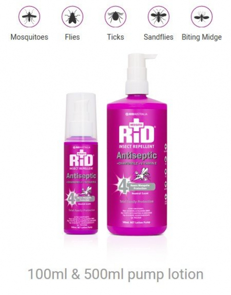 Rid Aust RID MEDICATED +ANTISEPTIC +CHAMOMILE +VIT E LOTION PUMP 100mL