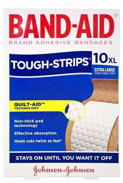 Johnson & Johnson JJ BAND-AID TOUGH STRIP X-LARGE  10