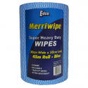 MERRIWIPE SUPER HEAVY DUTY BLUE 300mm x 45m 50cm Sheet  4rolls E56100