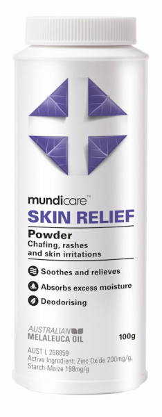 MUNDICARE RAPAID SKIN RELIEF POWDER 100g RP100