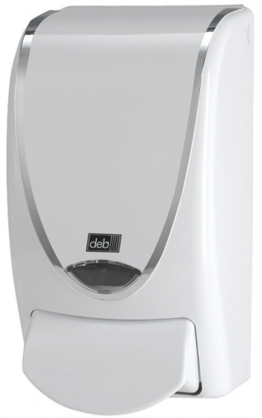 SC Johnson Deb DEB 1000 DISPENSER PROLINE 1L  WHITE, CHROME BORDER