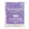 COTTON WOOL BALLS SWISSPERS 160 S12260