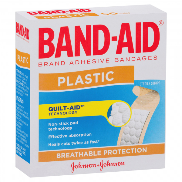 Johnson & Johnson JJ BAND-AID PLASTIC STRIP 50