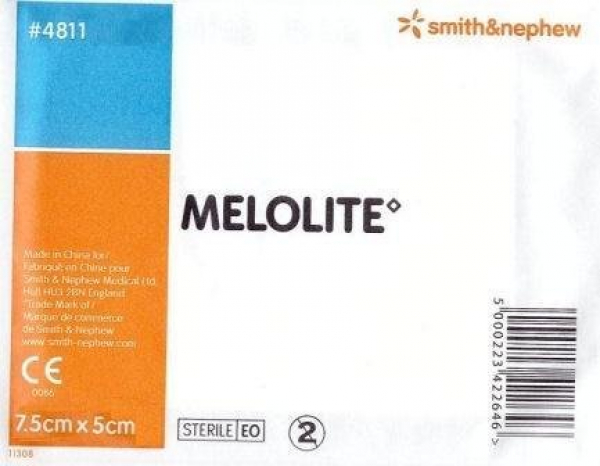 Smith & Nephew MELOLITE N.A. DRESSING 5cm x 7.5cm Single