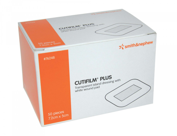 Smith & Nephew CUTIFILM PLUS W/PROOF DRESSING 5cm x 7.2cm  50