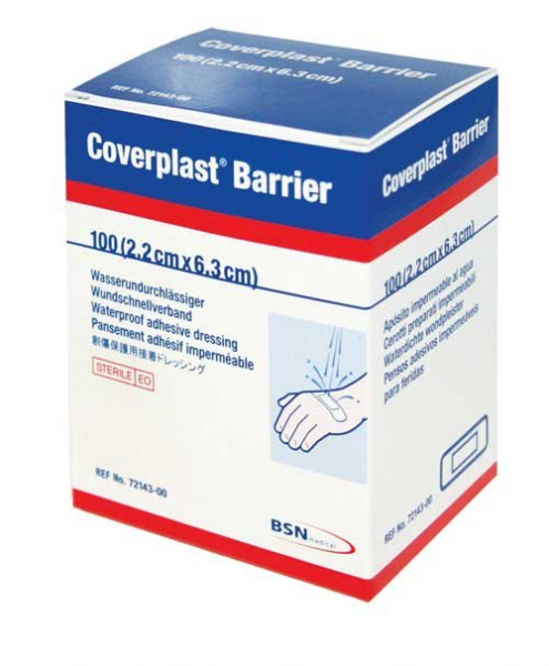 BSN medical COVERPLAST BARRIER STRIPS TAN 6.3cm x 2.2cm  Box/100