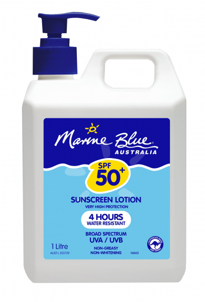 MARINE BLUE SUNSCREEN 50+ DRY TOUCH LOTION 1L PUMP MB0436