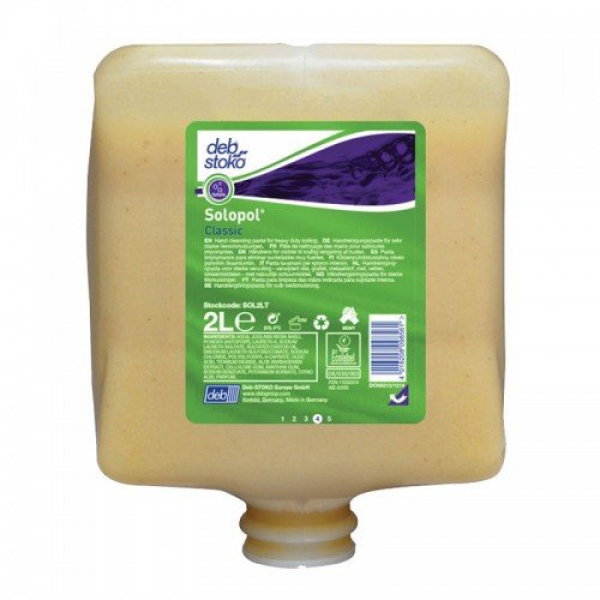 Deb SC Johnson DEB 2000 SOLOPOL NATURAL POWER WASH Cartridge * 4 x 2L  (2B,2C)  -  No Longer Carried by Uneedit