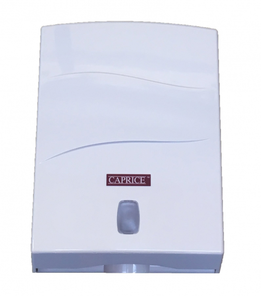 Caprice Paper CAPRICE DISPENSER TOWEL INTERLEAVED ABS PLASTIC WHITE