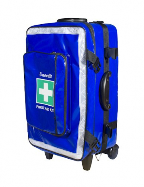 Uneedit F.A.KIT: CASE SOFT AMBULANCE with WHEELS & FOLDING HANDLE Colour: Black