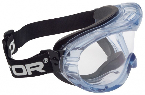 3M Aust GOGGLE: 3M CLEAR INDIRECT VENT FAHRENHEIT, POLY ANTI FOG, BLACK FOAM FRAME