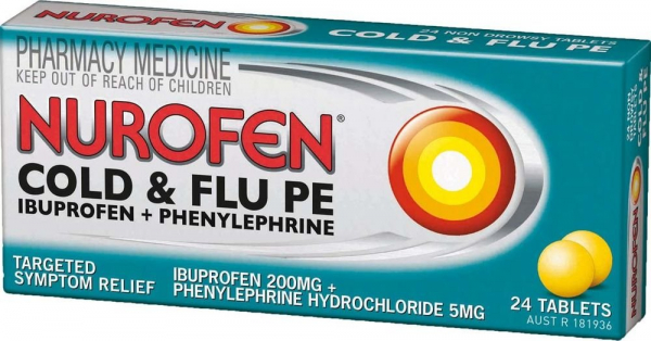 Reckitt Benckiser NUROFEN COLD & FLU PE TAB 24  (Unscheduled)