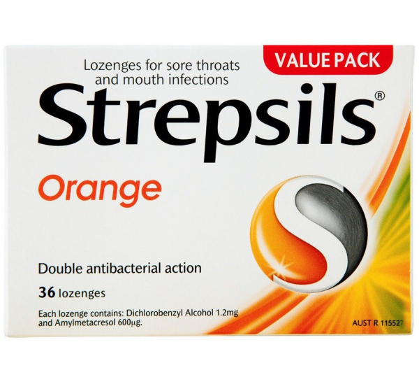 Reckitt Benckiser STREPSILS LOZ ORANGE 16