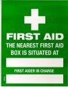LABEL: FIRST AIDER IN CHARGE & LOCATION SFAL
