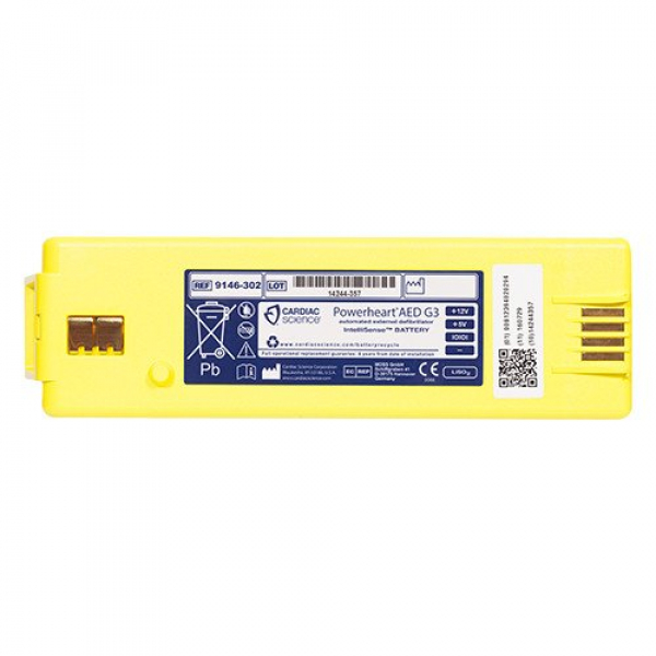 Cardiac Science POWERHEART DEFIBRILLATOR G3 BATTERY LITHIUM ELITE/PLUS (Yellow)