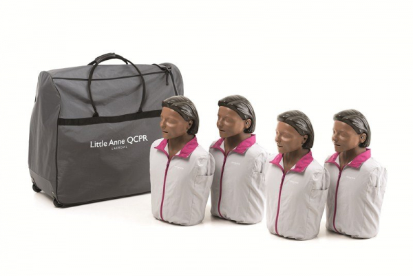 Laerdal LAERDAL MANIKIN QCPR LITTLE ANNE DARK 4 PACK