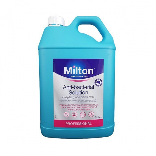 Nice Pack MILTON ANTIBACTERIAL SOLUTION 2% 5L (NEW Double Strength)
